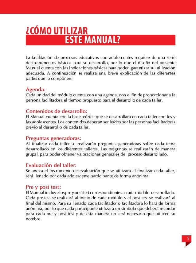 Manual 4 para la facilitaci n de temas de salud sexual y for Articulo de cultura para periodico mural