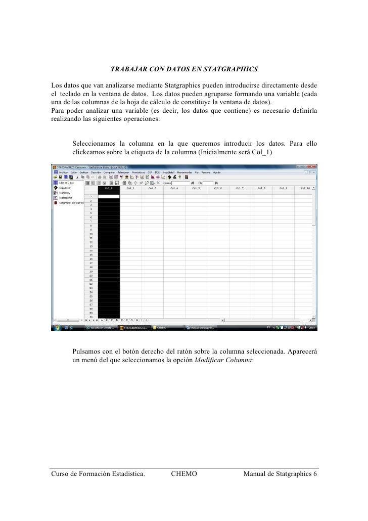 MANUAL DE STATGRAPHICS DOWNLOAD