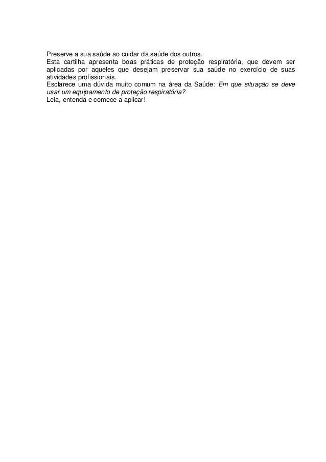 48380ffccb4ab Cartilha de Proteção Respiratória contra Agentes Biológicos para  Trabalhadores de Saúde  3.