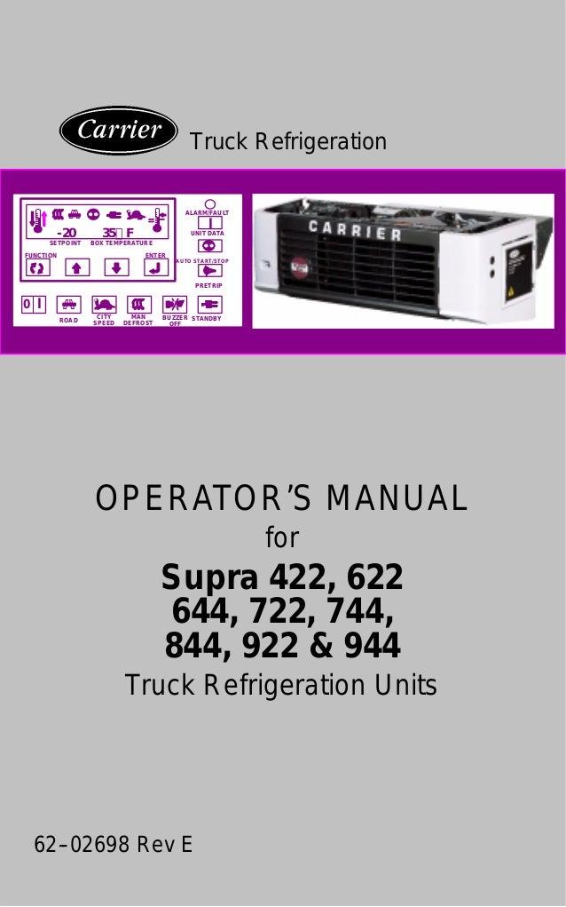 manual supra carrier rh slideshare net Military Carrier Transicold Refrigeration Unit Carrier Transicold Parts Catalog