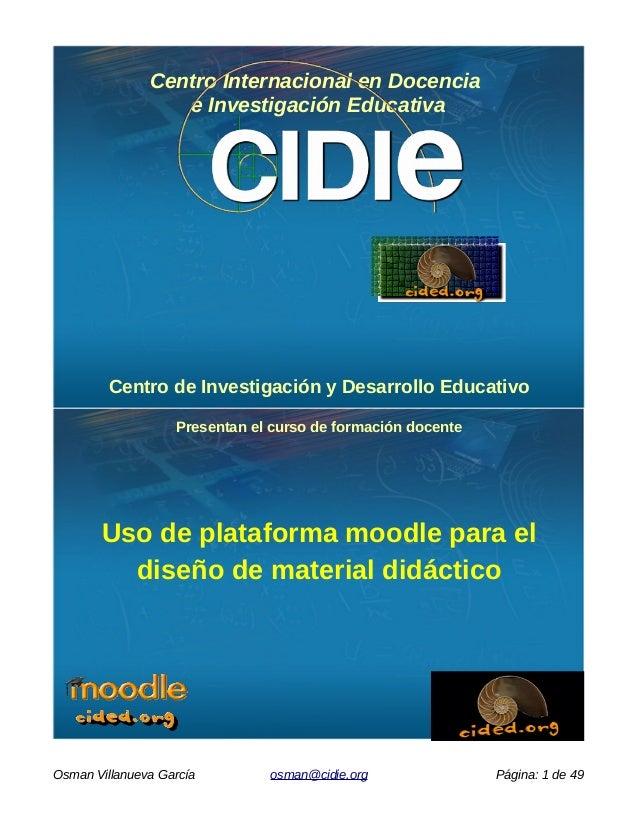 Centro Internacional en Docencia e Investigación Educativa Centro de Investigación y Desarrollo Educativo Presentan el cur...