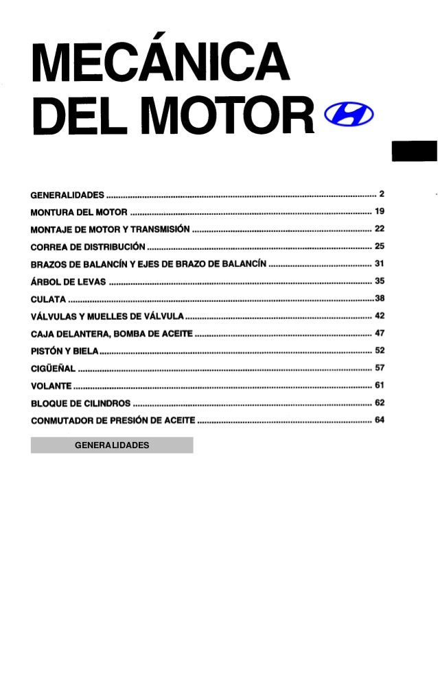 manual taller motor accent hyundai rh slideshare net manual de taller hyundai accent 2002 pdf manual de taller hyundai accent pdf