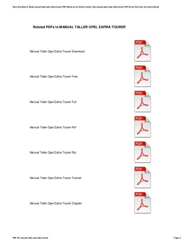 Manual taller opel zafira tourer