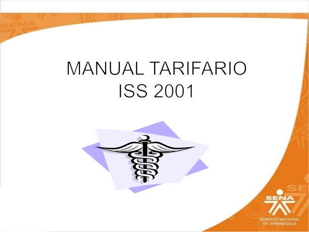 manual tarifario iss 2001 excel colombia