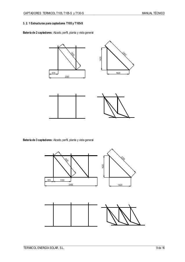 Manual Técnico Colectores Termicol T105, T105-S y T130-S 2002