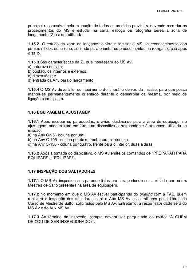 5626fa581089b Manual Técnico do Mestre de Salto Paraquedista EB60-MT-34.402