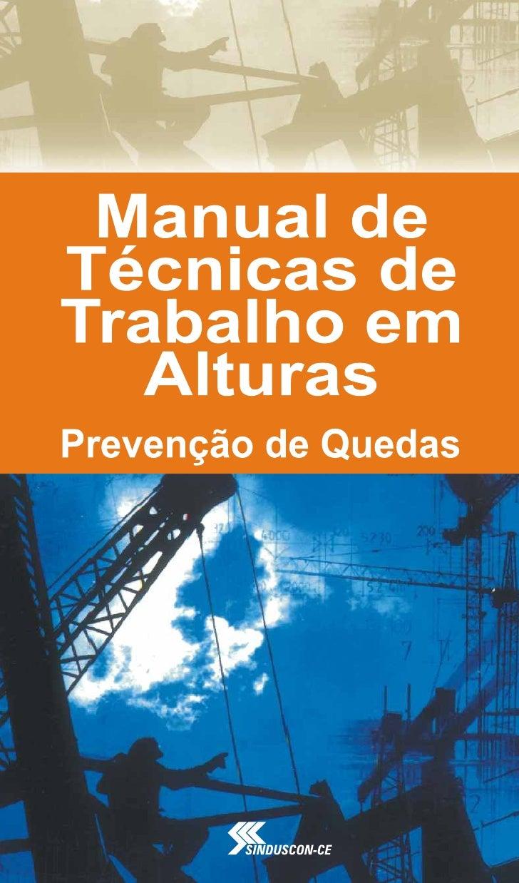 Manual Técnico de Trabalho em Altura - SINDUSCON-CE