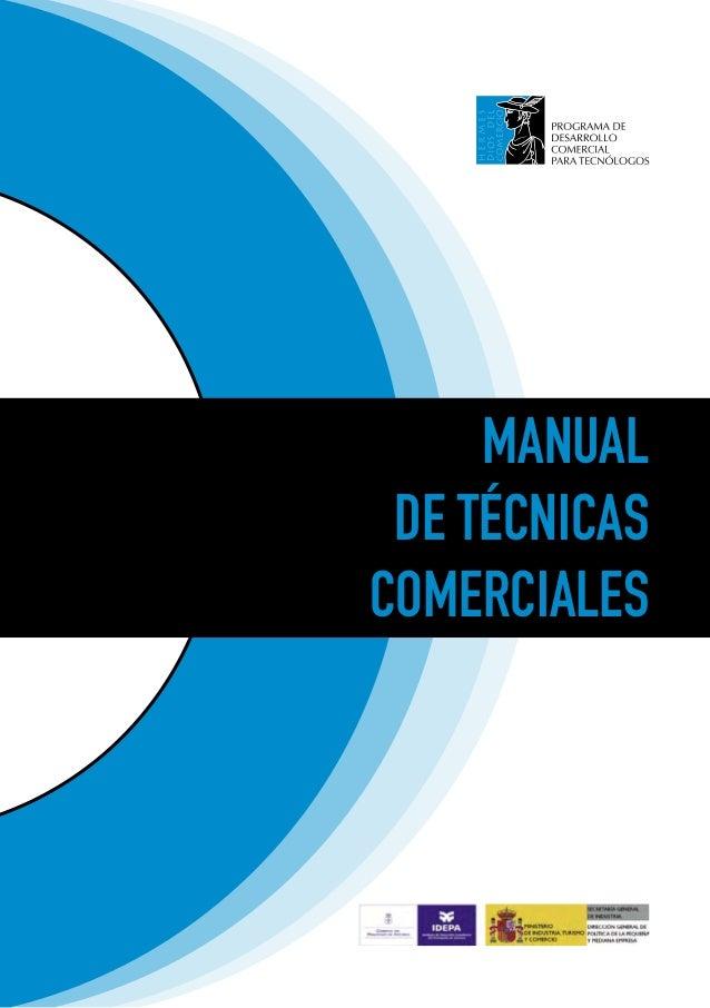 MANUAL DE TÉCNICASCOMERCIALES