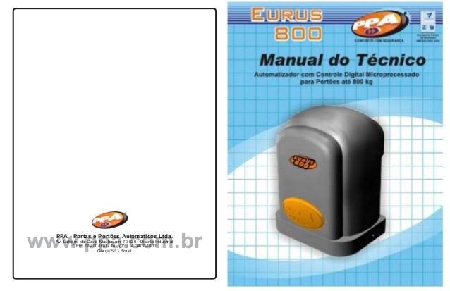 CONFORTO COM SEGURANÇA                            CONFORTO COM SEGURANÇAwww.ppa.com.br  PPA - Portas e Portões Automáticos...
