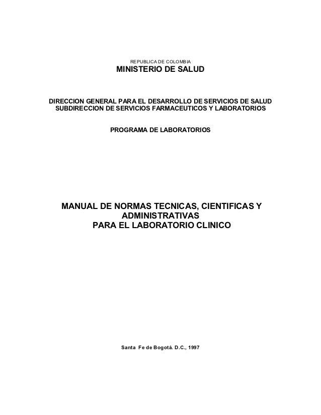 REPUBLICA DE COLOMBIA                 MINISTERIO DE SALUDDIRECCION GENERAL PARA EL DESARROLLO DE SERVICIOS DE SALUD  SUBDI...