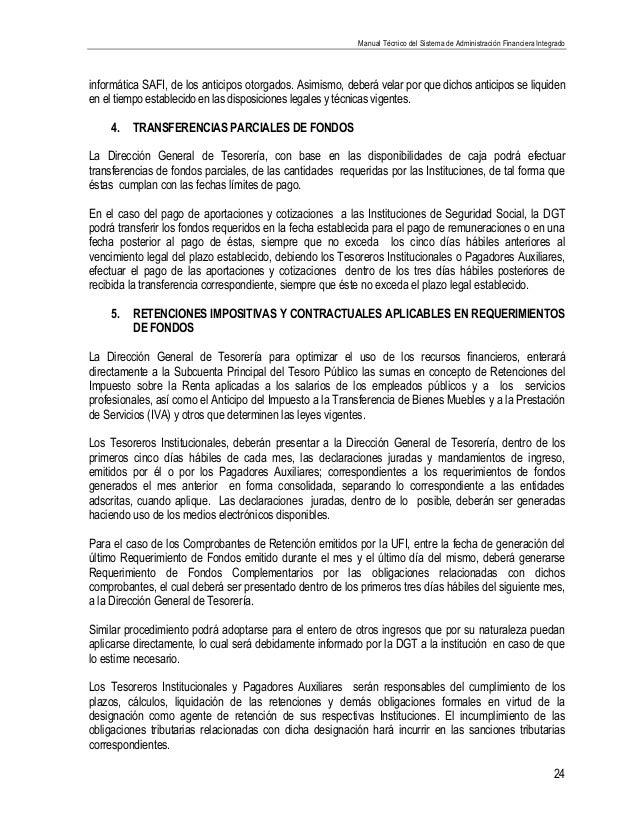 Manual técnico del sistema de administración financiera integrado.