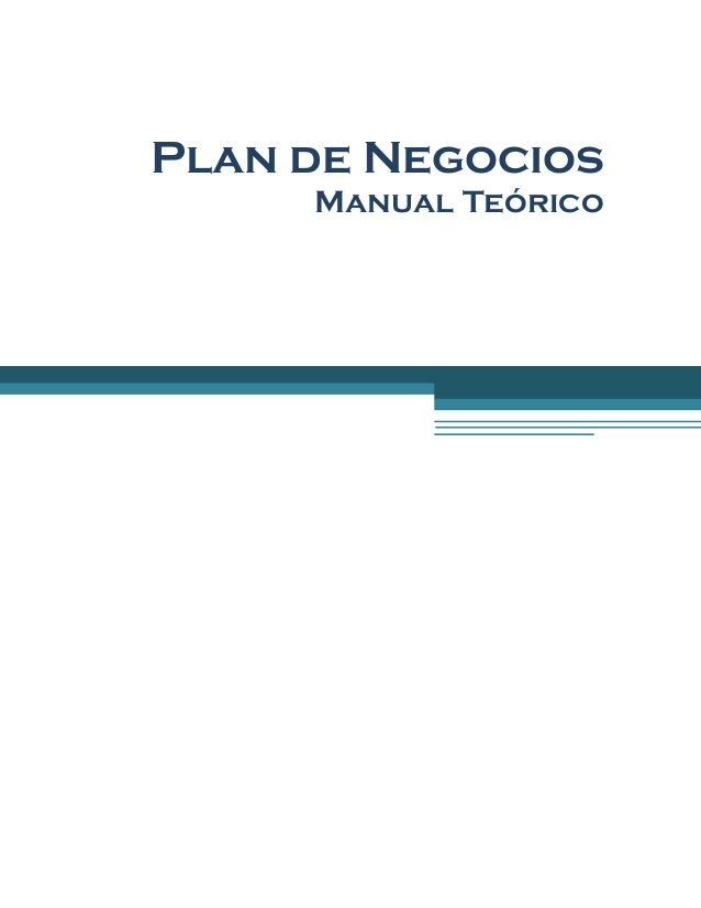 Plan de Negocios Manual Teórico