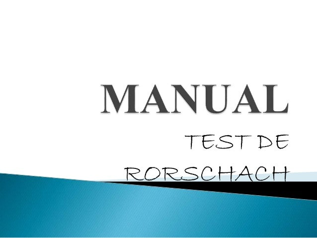 Manual test de Rorschach