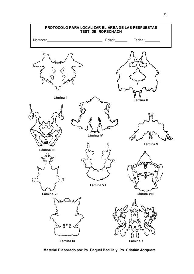 rorschach inkblot test manual pdf