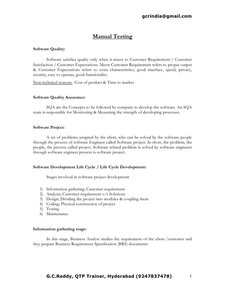 cv - Test Analyst Sample Resume