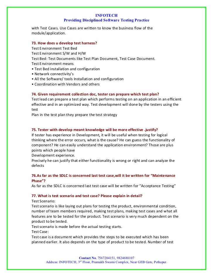 manual testing interview question by infotech rh slideshare net Ktea Testing Manual Ktea Testing Manual