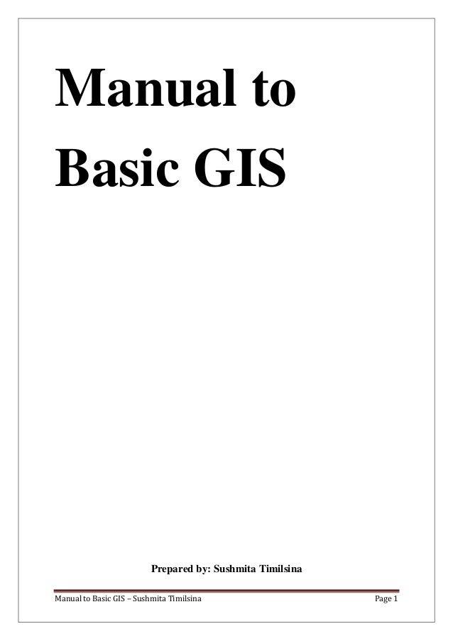 Manual to basic gis