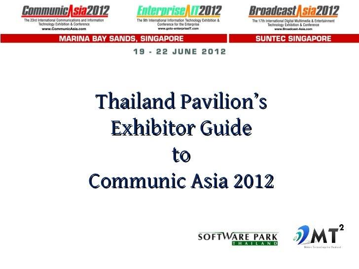 Thailand Pavilion's  Exhibitor Guide         toCommunic Asia 2012