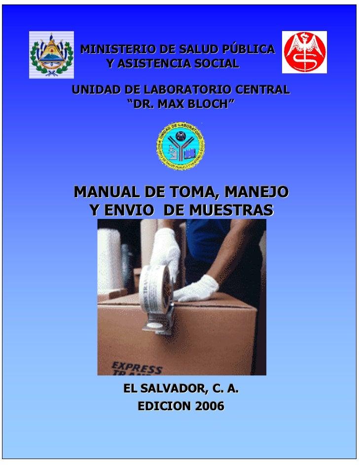 """MI MINISTERIO DE SALUD PÚBLICA      Y ASISTENCIA SOCIAL  UNIDAD DE LABORATORIO CENTRAL         """"DR. MAX BLOCH""""  MANUAL DE ..."""