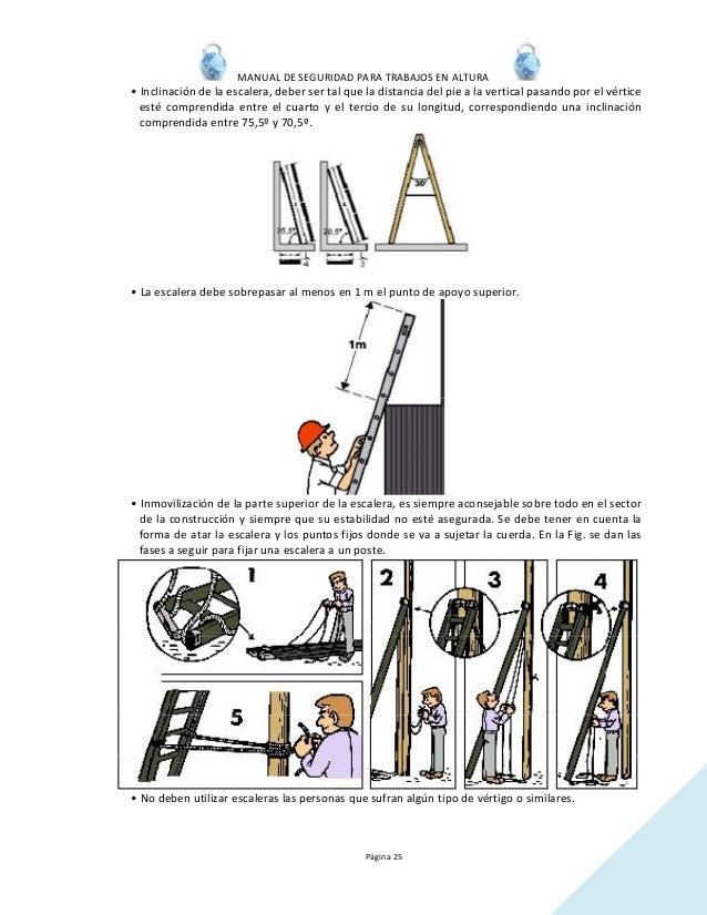 Manual trabajo en altura - Escaleras de trabajo ...