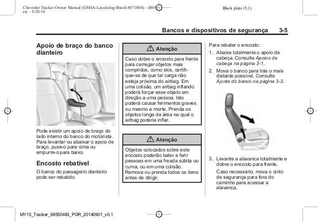 Manual Tracker 2015 Chevrolet