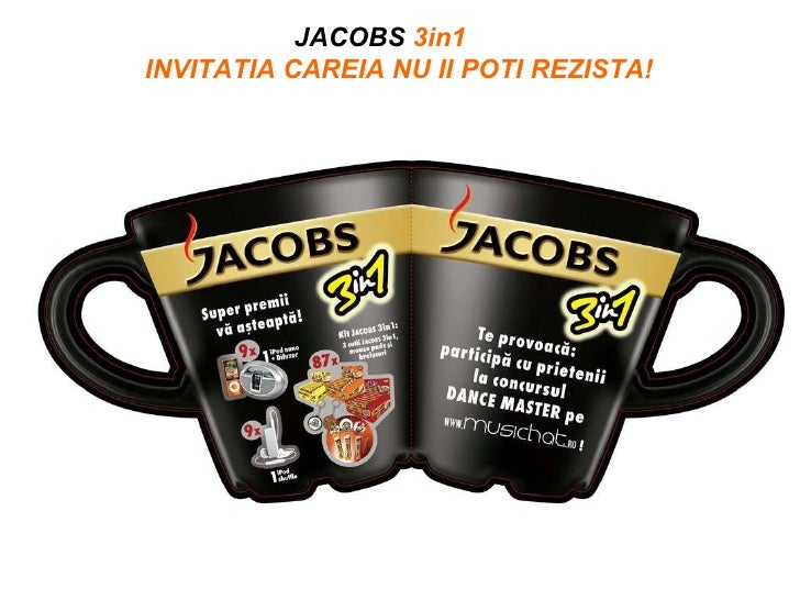 JACOBS  3in1   INVITATIA CAREIA NU II POTI REZISTA!