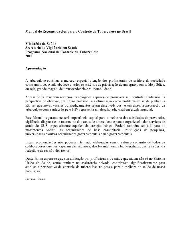 Manual de Recomendações para o Controle da Tuberculose no BrasilMinistério da SaúdeSecretaria de Vigilância em SaúdeProgra...
