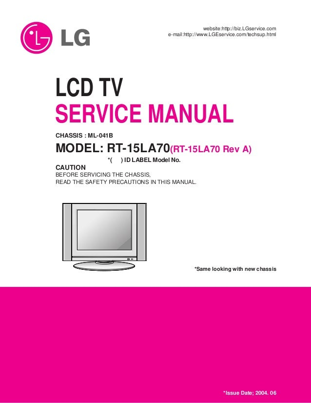 manual tv lcd da lg rt 15la70 rh slideshare net lg lcd service manual lg lcd tv service manual free download