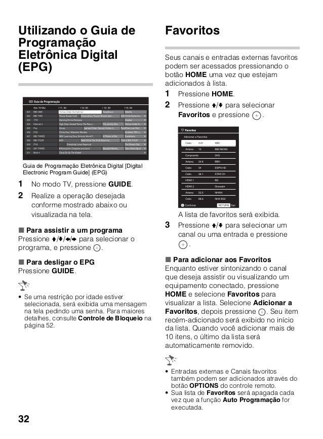 manual tv sony bravia modelo kdl ex355 ex455 pt rh slideshare net manual tv sony bravia kdl 32ex525 manual tv sony bravia kdl-32bx300