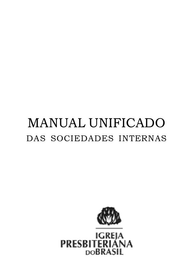 MANUAL UNIFICADODAS SOCIEDADES INTERNAS