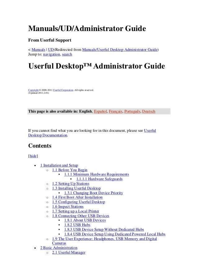 Manuals/UD/Administrator GuideFrom Userful Support< Manuals | UD(Redirected from Manuals/Userful Desktop Administrator Gui...