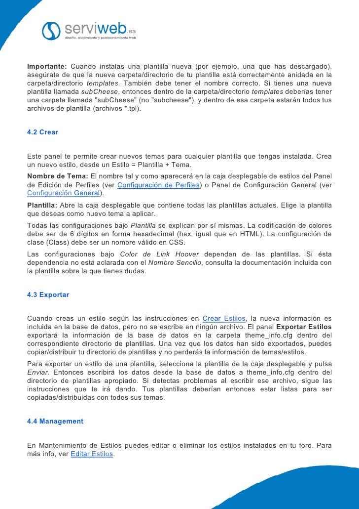 """Manual de uso y gestión completa del foro """"phpBB"""""""