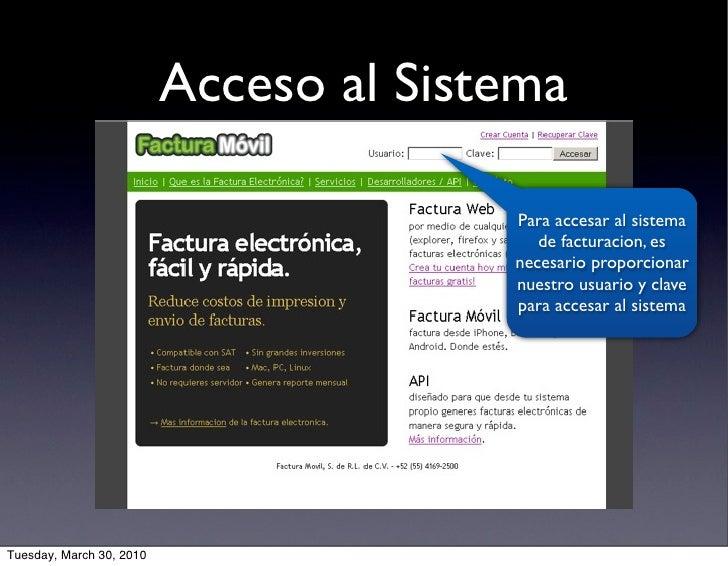 Acceso al Sistema                                          Para accesar al sistema                                        ...