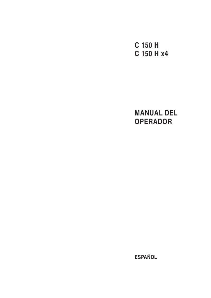 C 150 HC 150 H x4MANUAL DELOPERADORESPAÑOL