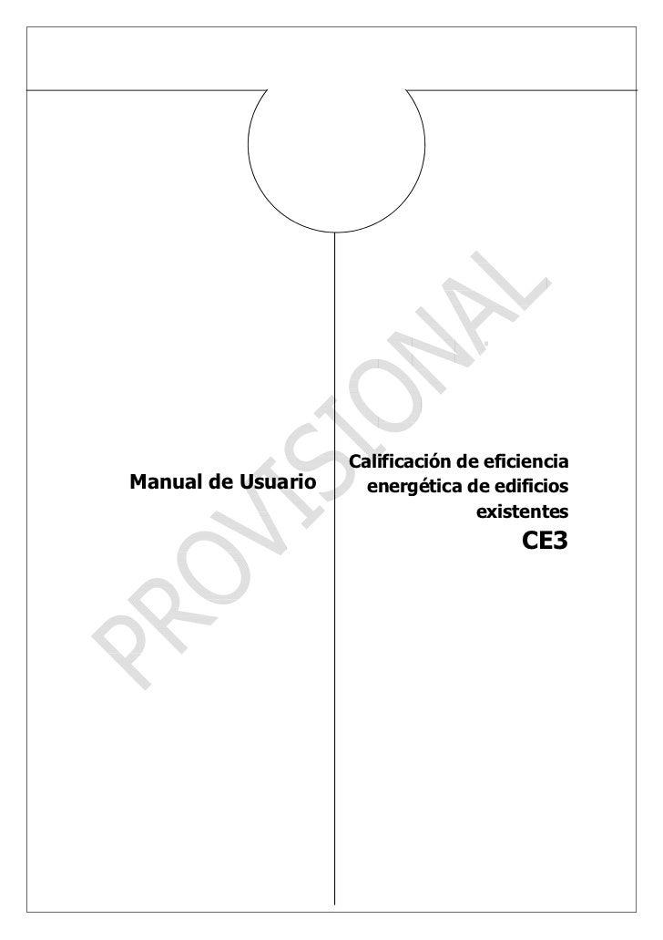 Calificación de eficienciaManual de Usuario     energética de edificios                                   existentes      ...