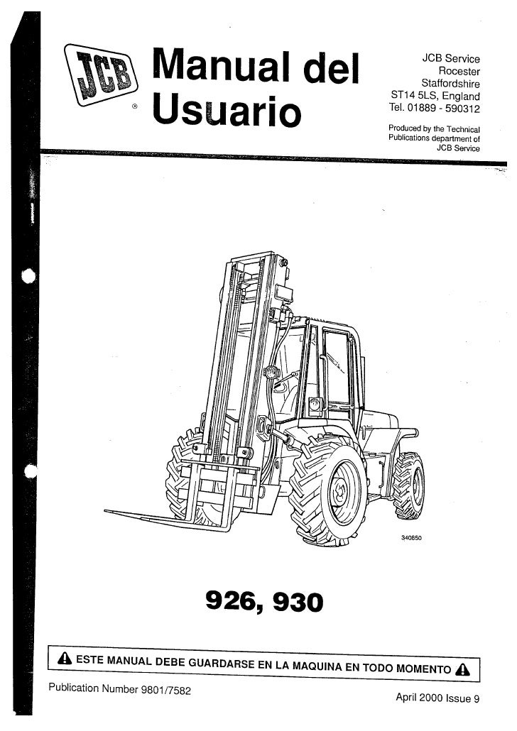 Manual usuario jcb 926; 930