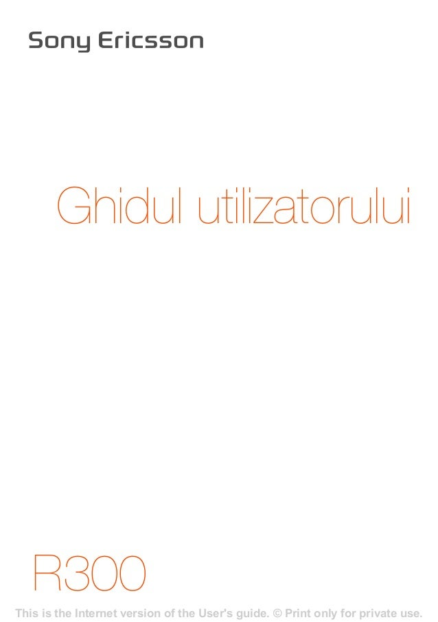 R300 Ghidul utilizatorului This is the Internet version of the User's guide. © Print only for private use.