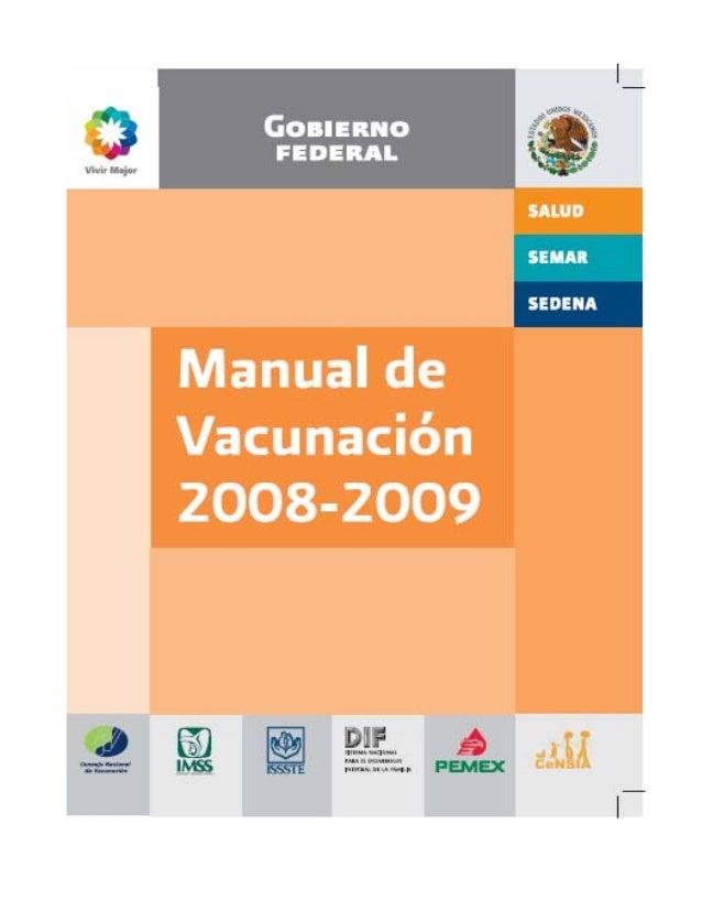 Manual vacunacion 2008 2009 for Manual de viveros forestales pdf