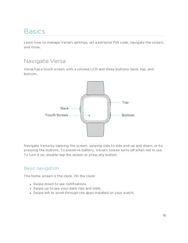Fitbit Versa User Manual
