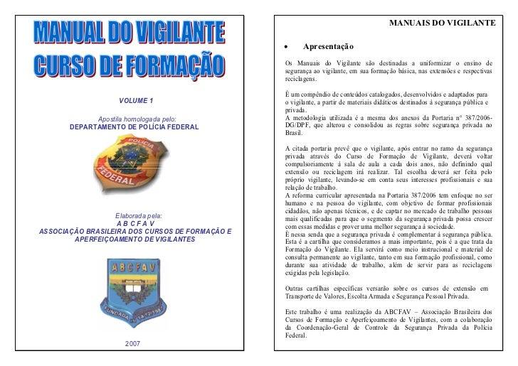 manual vigilante atualizado dpf rh pt slideshare net Policia Federal Logo Mexican Policia Federal