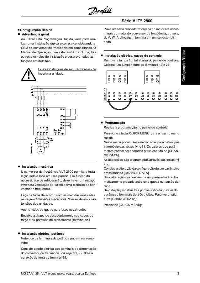 manual vlt2800 portugues rh pt slideshare net danfoss vlt 2800 manual pdf danfoss vlt 2800 manuale italiano