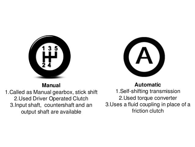 stick shift vs automatic The disappearing stick shift: almost all automakers offered almost all their vehicles with a choice of automatic or manual drive trains the stick.