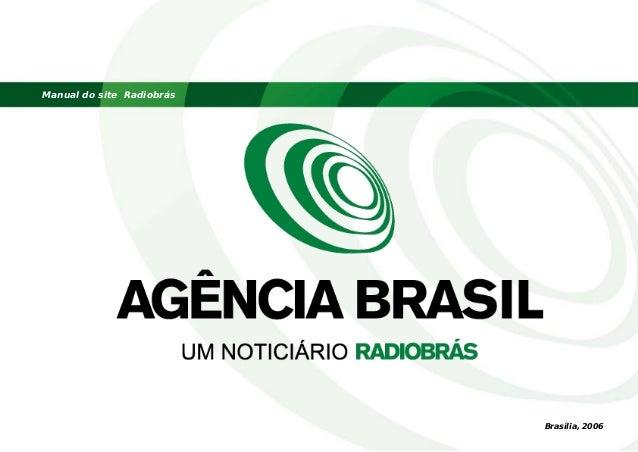 Manual do site Radiobrás Brasília, 2006