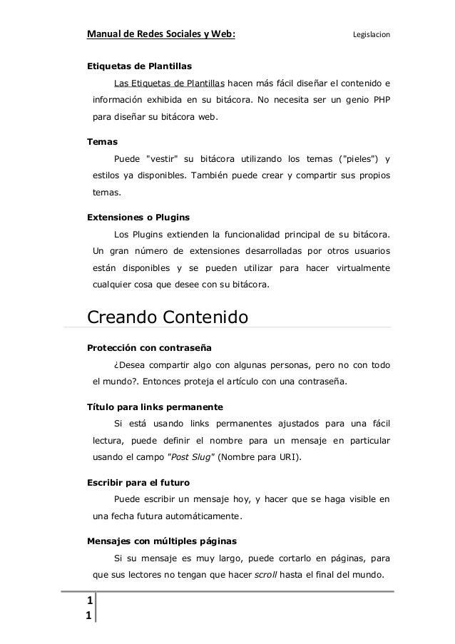 Manual de Redes Sociales y Web:  Legislacion  Etiquetas de Plantillas Las Etiquetas de Plantillas hacen más fácil diseñar ...
