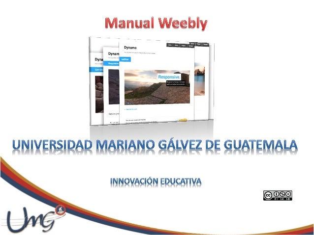 Weebly es una herramienta web gratuita, dedicada a la creación depáginas.Usa un estilo de formato Widget, dejando que los ...