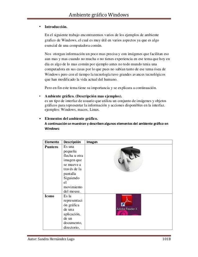 Ambiente gráfico Windows      • Introducción.          En el siguiente trabajo encontraremos varios de los ejemplos de amb...