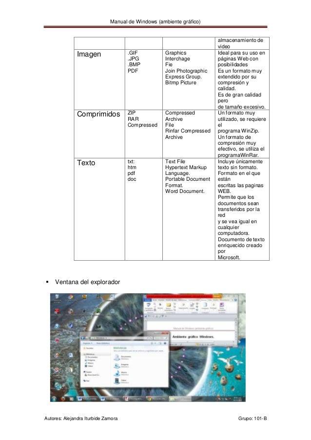 Manual de Windows (ambiente gráfico)                                                                       almacenamiento ...