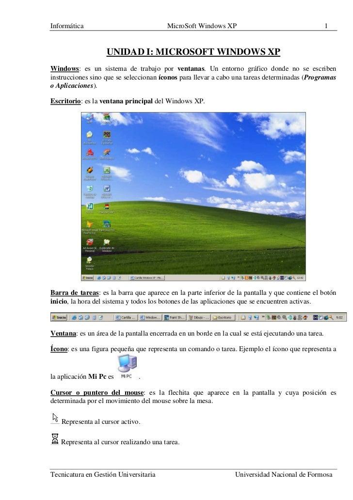 Informática                              MicroSoft Windows XP                                       1                   UN...