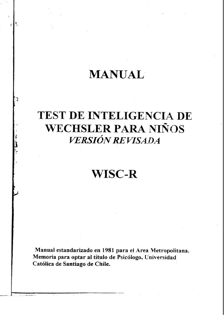 Manual wisc r