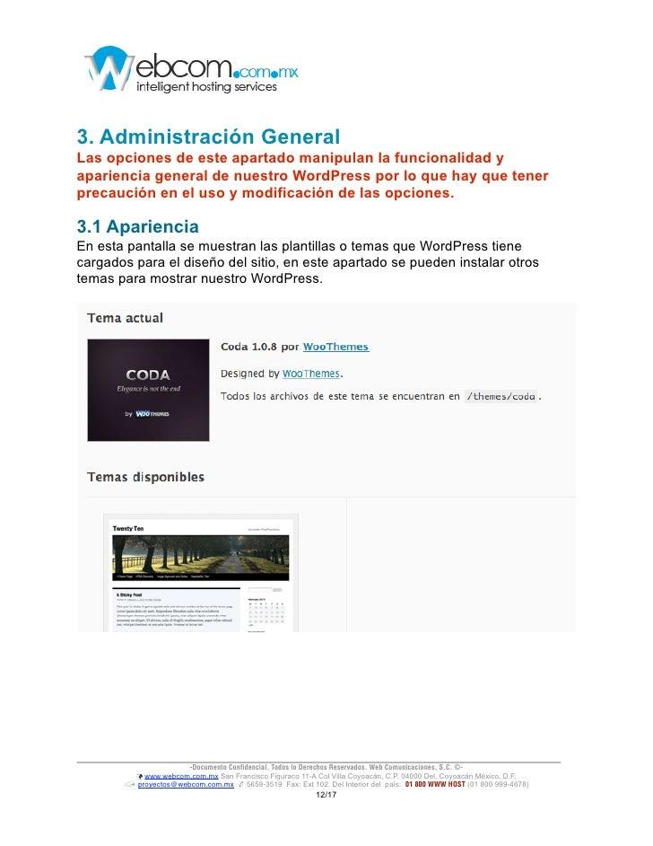 Manual básico de Administración de WordPress